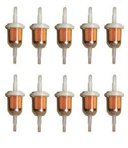 """10 PACK  6MM x 8MM  1/4""""  5/16""""  INLINE FUEL GAS FILTER  LAW"""