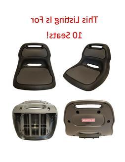 "10 Sturdy Plastic Craftsman Black Lawn Mower Seat 12"" Back A"