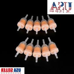 """10Pcs 1/4"""" 6mm/8mm Inline Gas Fuel Filter For Small Engine L"""