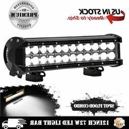 """12"""" 72W LED Work Light Bar Spot Flood Combo For John Deere L"""