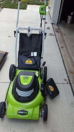 Greenworks 12 Amp 20 3 In 1 Electric Lawn Mower 25022 New