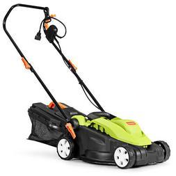 14-Inch 12Amp Lawn Mower w/Folding Handle Electric Push Lawn