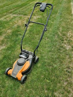 Worx 14 Inch battery push mower with bagger 24 volt