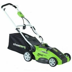 """Greenworks 16"""" 120V Corded Electric Lawn Mower 25142 NEW"""