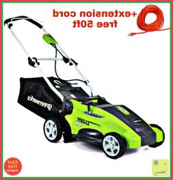 Greenworks 16-Inch 10 Amp Corded Electric Lawn Mower 25142/G
