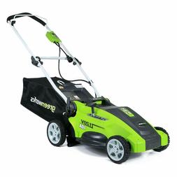 Greenworks 16-Inch 10 Amp Corded Electric Lawn Mower 25142,Q