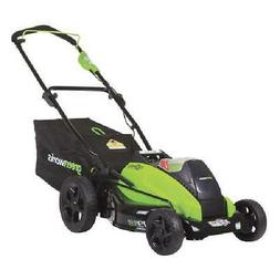 Greenworks 19-Inch 40V Cordless Lawn Mower, 4.0 AH & 2.0 AH