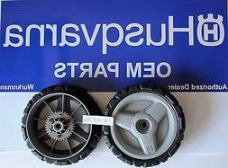 2 Husqvarna OEM 580365301 Lawn Mower Drive Wheels fits AWD m