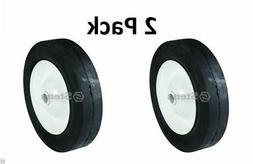 """2 Pack Stens 205-153 6"""" Steel Ball Bearing Wheel for Lawn Bo"""