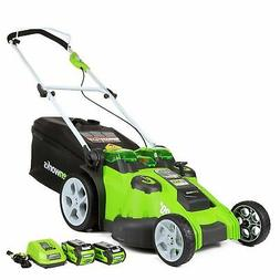 Greenworks 20-Inch 40V Twin Force Cordless Lawn Mower 4.0 AH