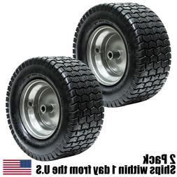 2PK 16x6.50-8 16/6.50-8 Turf Tire Riding Mower Tractor Rim W