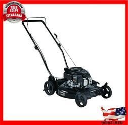 3 in 1 Lawn Mower 21 in Gas Walk Behind Push Backyard Garden