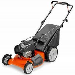 3-N-1 Gas Lawn Mower, High Rear Wheels, 163cc Engine, 21-In.