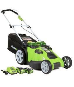 Greenworks 40V 20-Inch Cordless Mower - Twin Force 4Ah & 2Ah