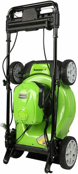 "Greenworks 40V 21"" Brushless  Self-Propelled Lawn Mower, 2 x"
