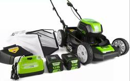 Greenworks 80v 21 Inch Cordless Lawn Mower, With Two 2Ah Bat