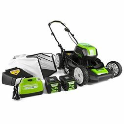 Greenworks 80V 21 inch Cordless Push Lawn Mower, Includes Tw