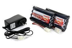 Tenergy 9.6V Flat NiMH Battery Packs for RC Car, High Capaci