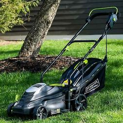 A 14-Inch 11-Amp Corded Electric Lawn Mower, Black