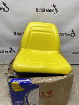 A & I Deluxe Mid-Back Utility Lawn Mower Seat Yellow, Model#