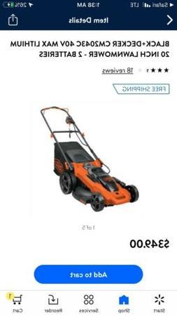 Black and Decker 20 Inch Lawnmower