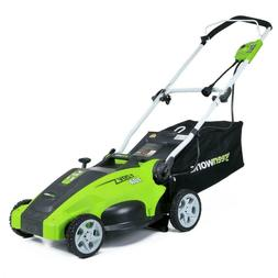 Greenworks Corded Electric Lawn Mower lightweight collapsibl
