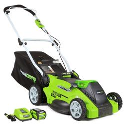 16-inch 40v cordless lawn mower, 4.0 ah battery included 253