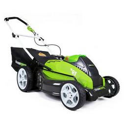 19-inch 40v cordless lawn mower, 4.0 ah & 2.0 ah batteries i