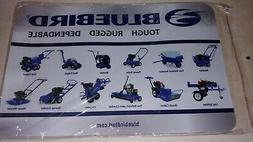 BLUEBIRD COUNTER MAT LAWN AUTO GARDEN CARE PLACEMAT  CHIPPER