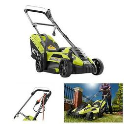Electric Lawn Mower Ryobi Corded Walk Behind Push Grass Cutt
