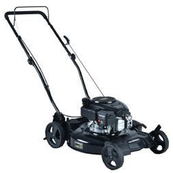 Gas Lawn Mower 21 in 2 in 1 Walk Behind Push Backyard Garden