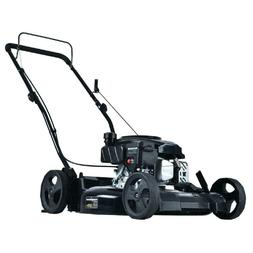 Gas Lawn Mower 21 in 2 in 1 Walk Behind Push Backyard Garden