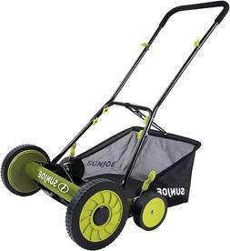 Greenworks 18-Inch Reel Lawn Mower with Grass Catcher