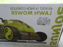 "Sun Joe iON16LM 40V Cordless 16"" Lawn Mower - Battery/Charge"