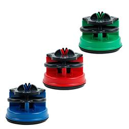 SHEbaking 3 Colors Knife Sharpener with Suction Cup and Tung