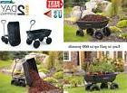 10 In Ft Steel Frame Dump Cart Wagon Garden Yard Tractor Law