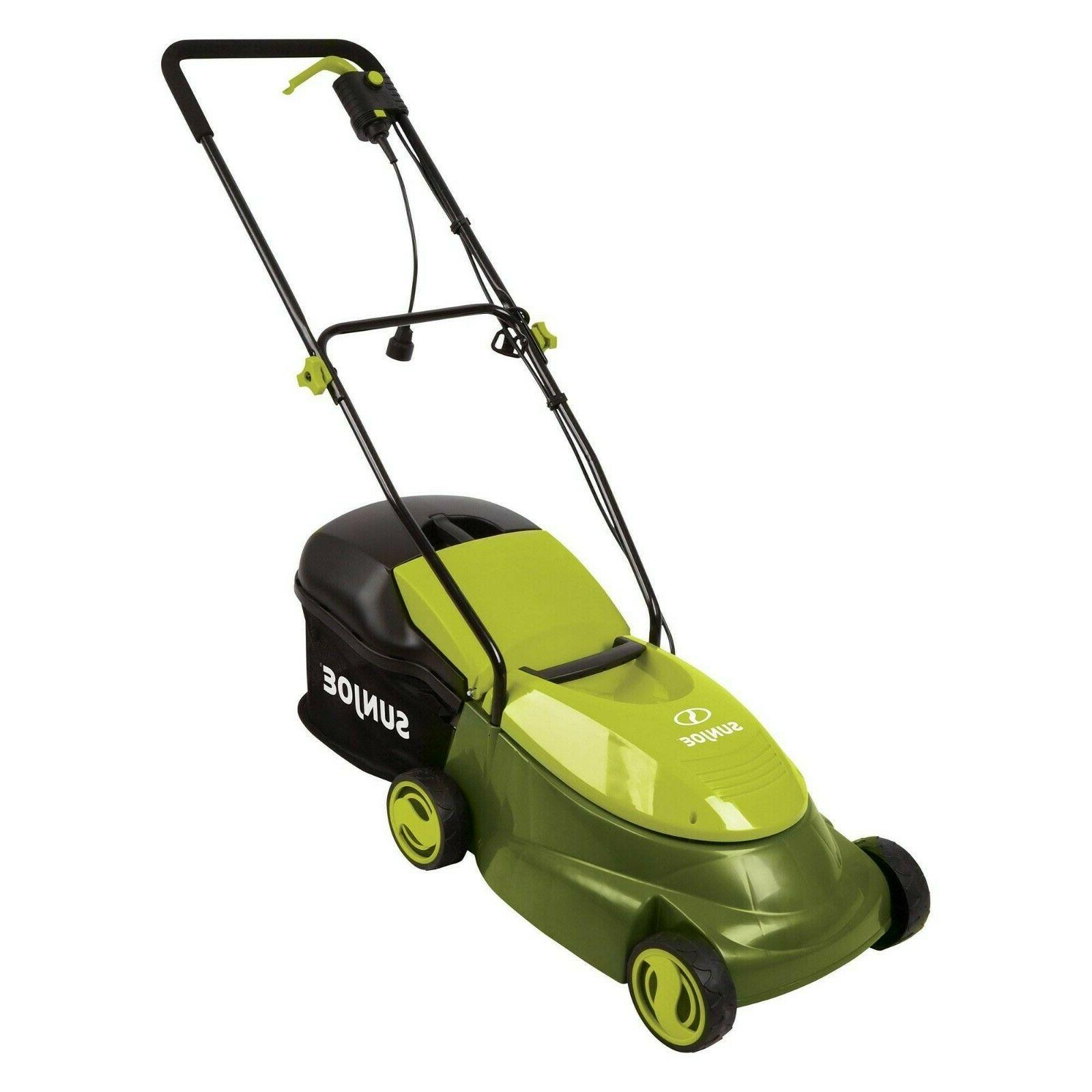 Sun 14 12 Amp Home Electric Corded Behind Lawn Mower Outdoor Green