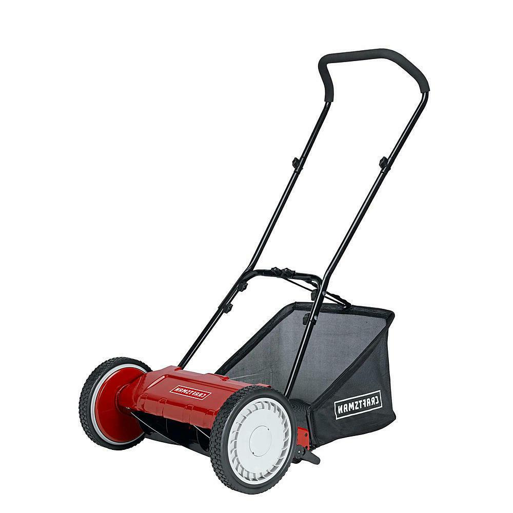 16 reel push lawn mower with bag