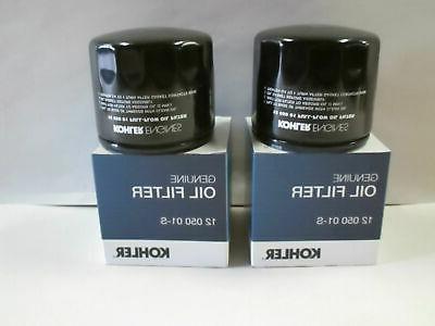 2 Pack Genuine Kohler 12-050-01-S Short Oil Filter 12 050 01