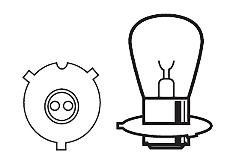 2 Headlight 34901-323-750 6000K
