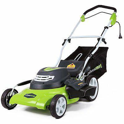 GreenWorks 25022 12 Amp Corded 20-Inch Lawn Mower Rear Bag M