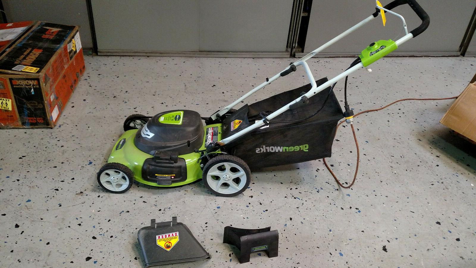 "GreenWorks 25022 Lawn Mower 20"" 3 in 1 Electric Engine 12 Am"