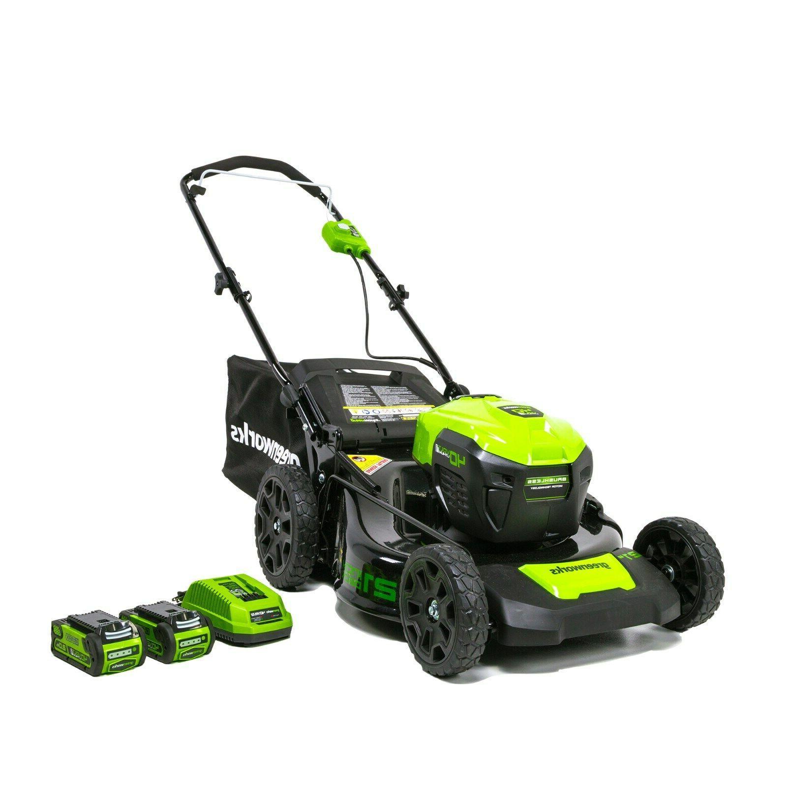 40v 21 in brushless dual port mower