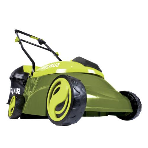 Cordless Electric Push Lawn Mower Walk Behind 14in 28V Li Io
