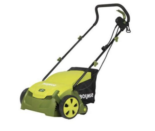 electric lawn dethatcher mower w collection bag