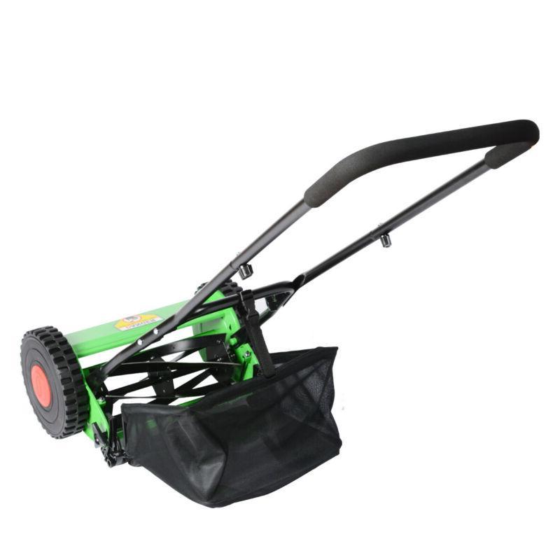 Hand Push Adjustable Manual Mower Grass 5-Blade