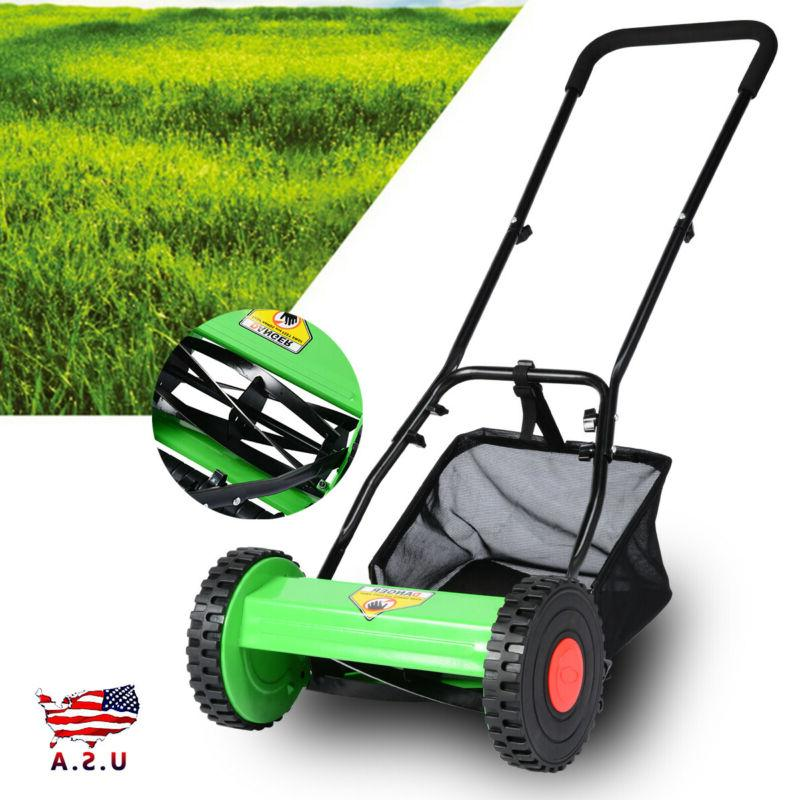 Hand Manual Lawn Mower With Grass 5-Blade