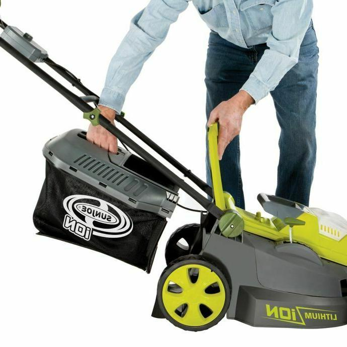 Sun Joe Mower 16in Cordless Push Walk Lightweight iON16LM NEW
