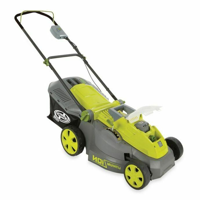 lawn mower 16in electric cordless push walk