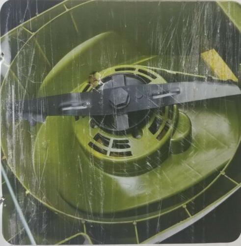 Sun Joe Cordless Electric 14 Push Behind Mower, Green